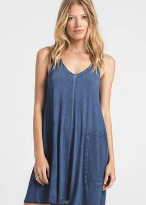 Z Supply Bay V-Neck Indigo Dress