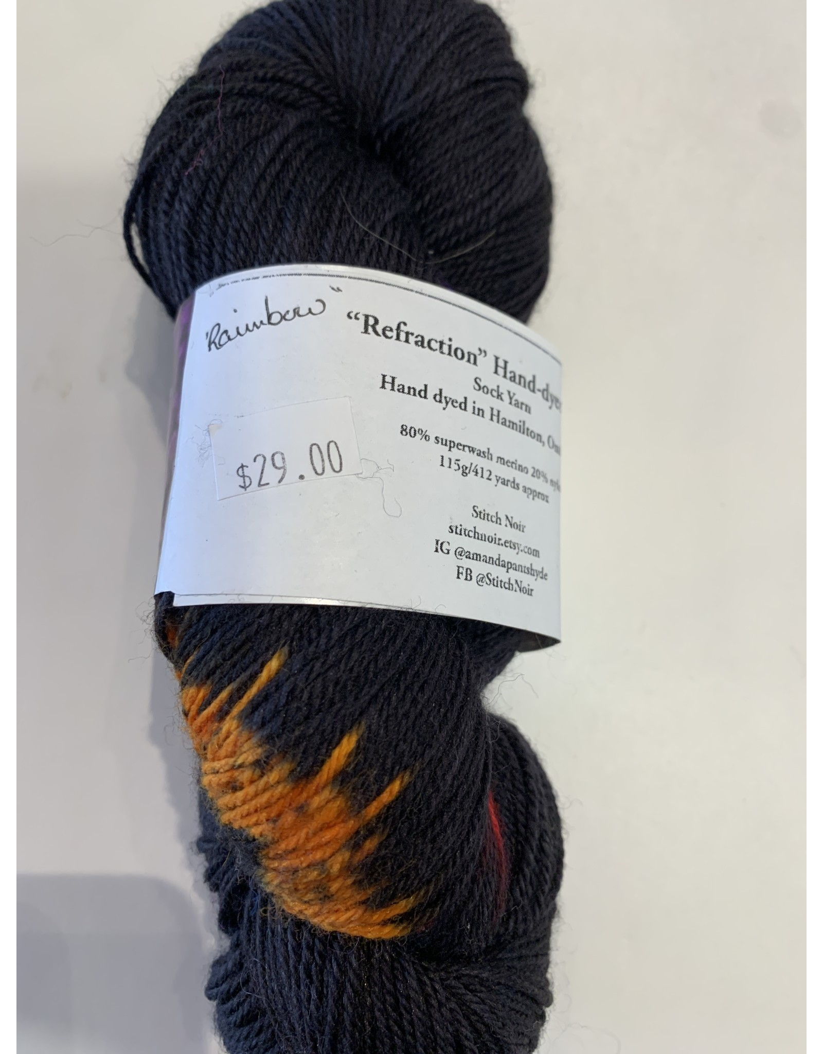 Stitch Noir Stitch Noir Sock Refraction 80/20