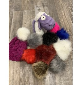 Cymbo Oversize Detachable Faux Fur Pompom