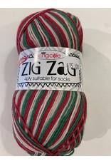 King Cole Zig Zag Christmas Sock Yarn