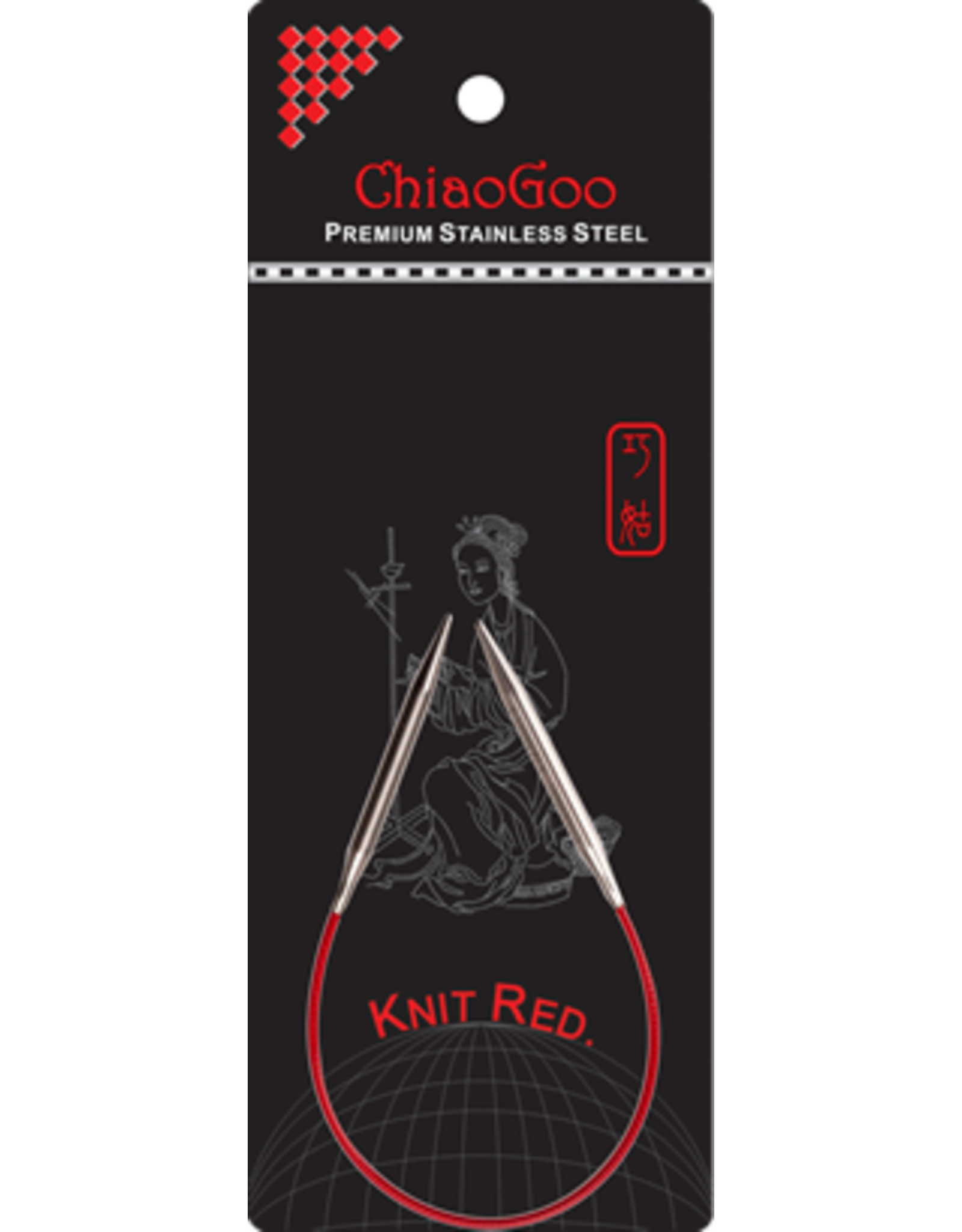 ChiaoGoo Chiaogoo SS Red  Circular Needles