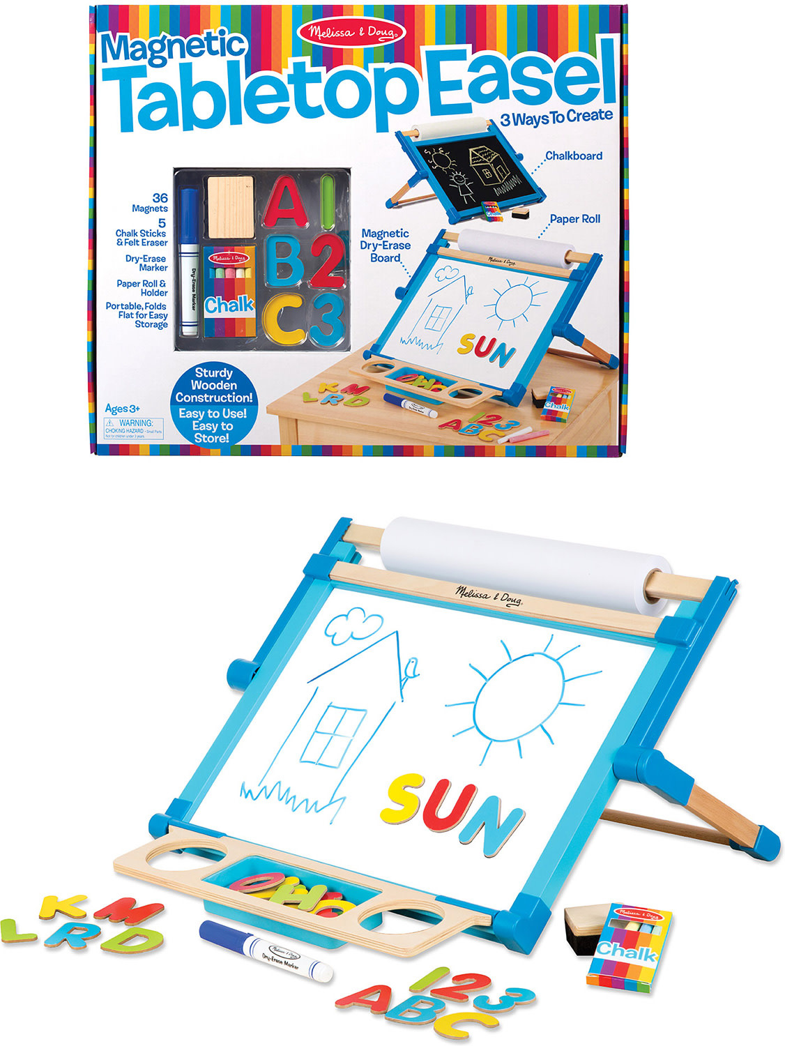 Magnetic Tabletop Easel M&D-3