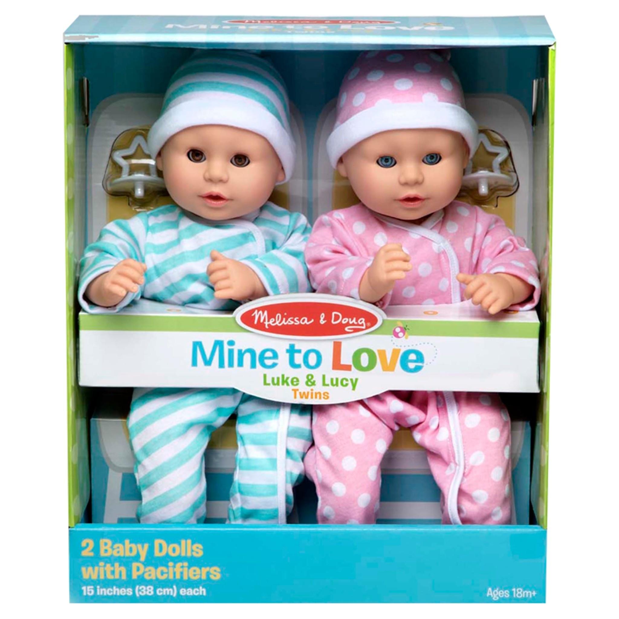 Mine to Love Twin Dolls Luke & Lucy-2