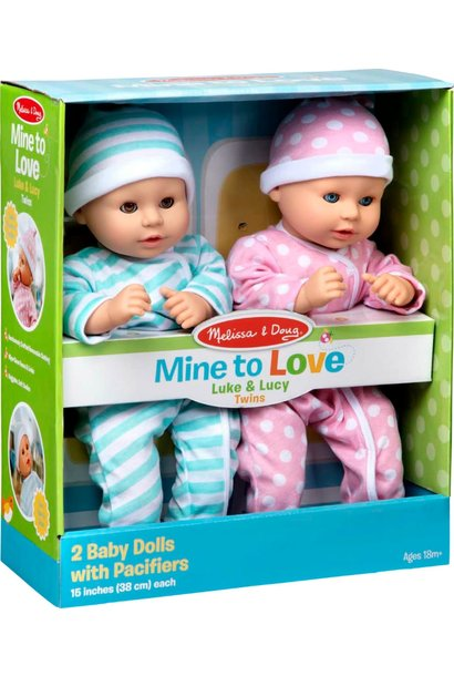 Mine to Love Twin Dolls Luke & Lucy