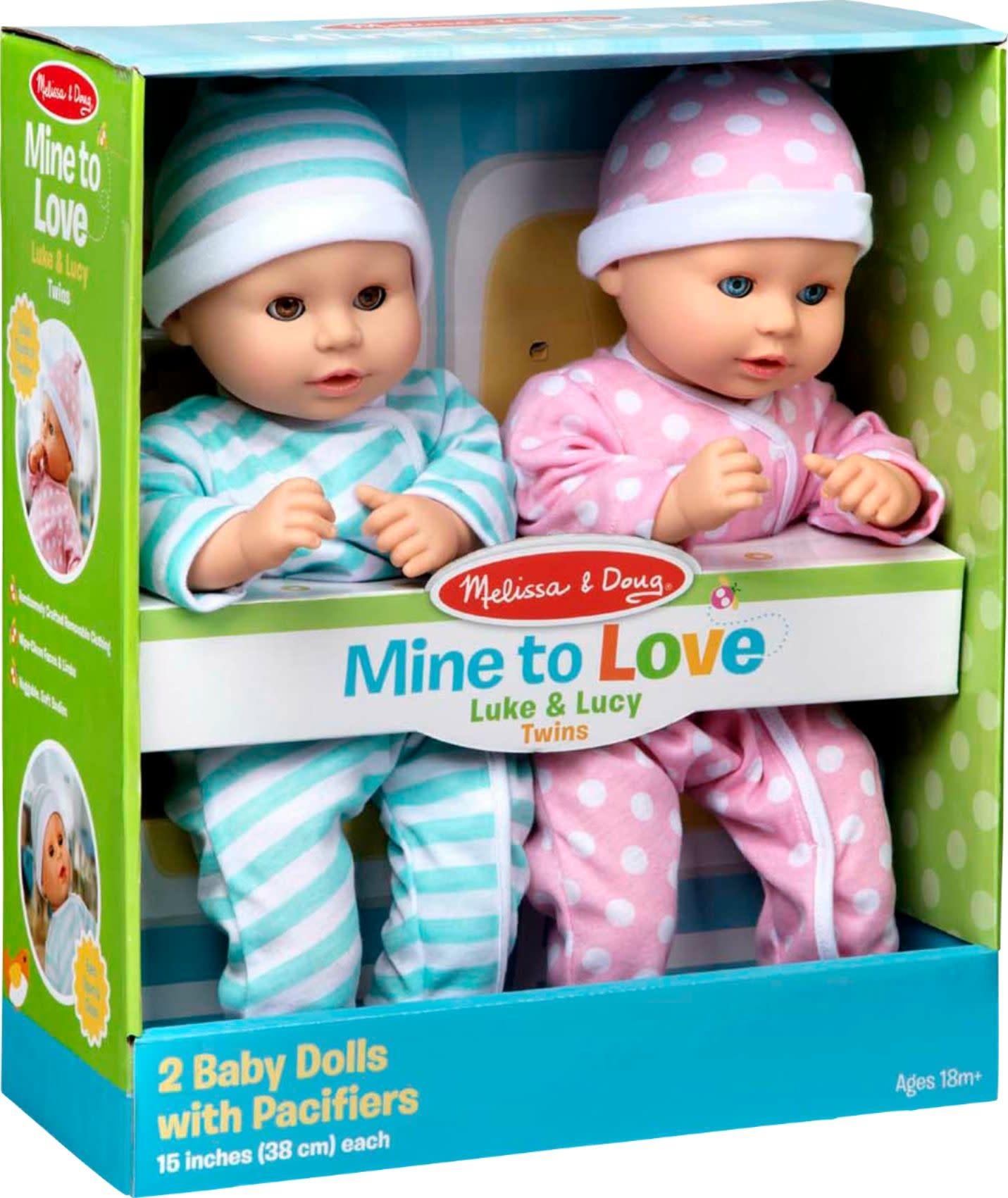 Mine to Love Twin Dolls Luke & Lucy-1