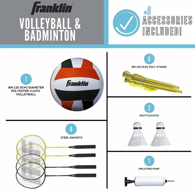 Volleyball & Badminton forFamily-3