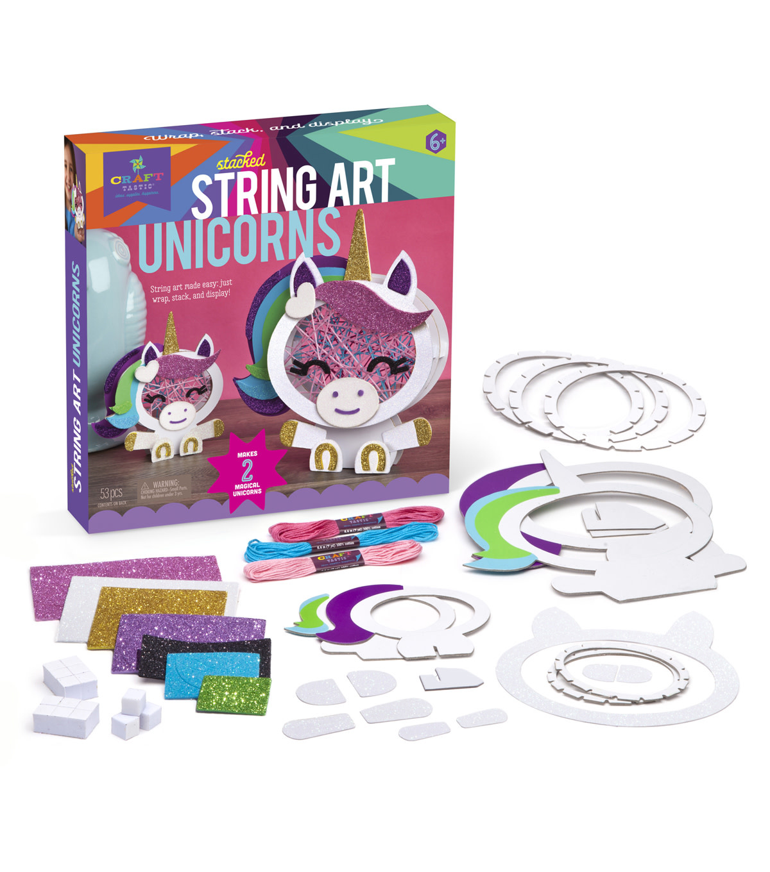 Kit/Stacked String Art Unicorns-3