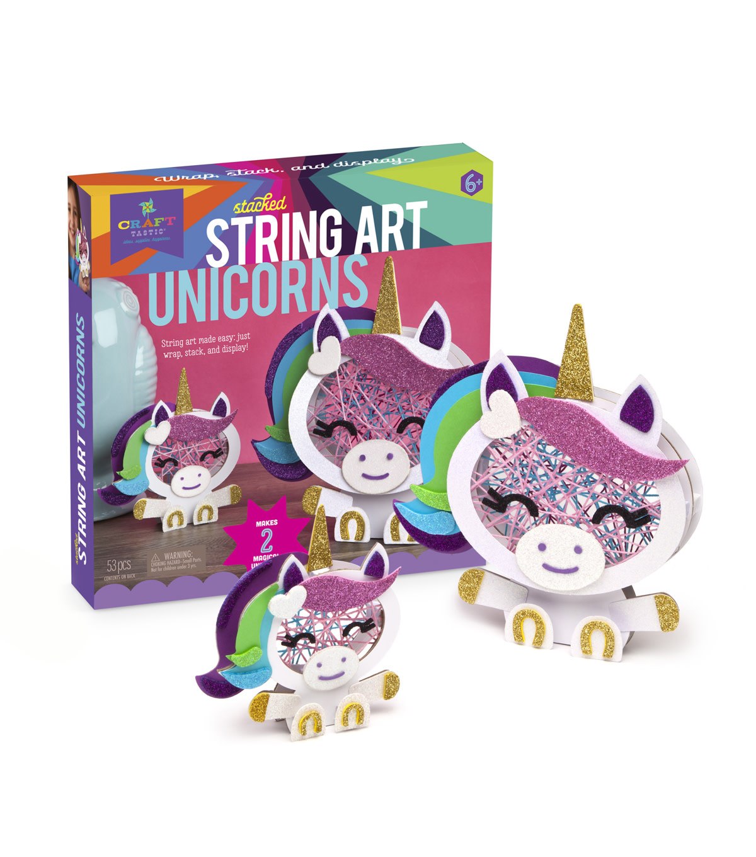 Kit/Stacked String Art Unicorns-1
