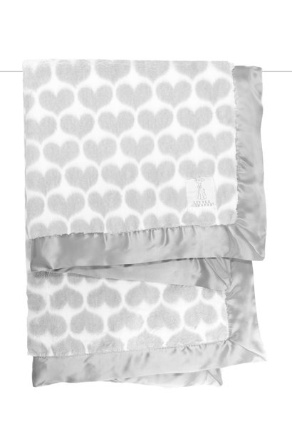 LG Luxe Heart Army Blanket Silver
