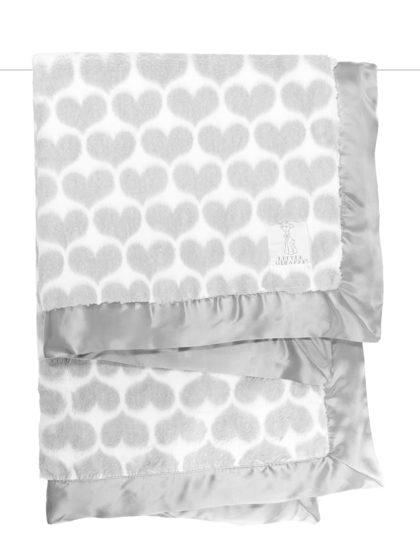 LG Luxe Heart Army Blanket Silver-1
