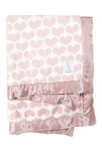 LG Luxe Heart Army Blanket Dusty Pink