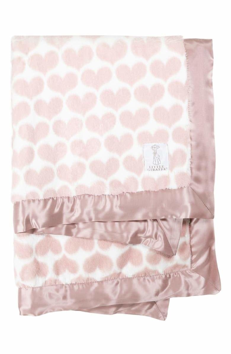 LG Luxe Heart Army Blanket Dusty Pink-1