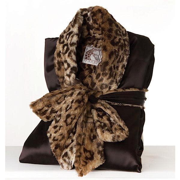 LG Adult Robe Choc/Leopard Size0-1