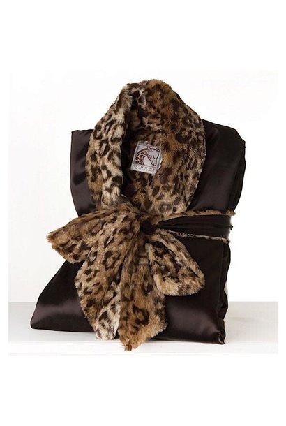 LG Adult Robe Choc/Leopard Size1