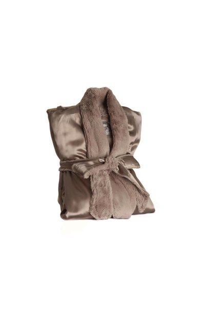 LG Adult Robe Luxe/Satin Flax/0