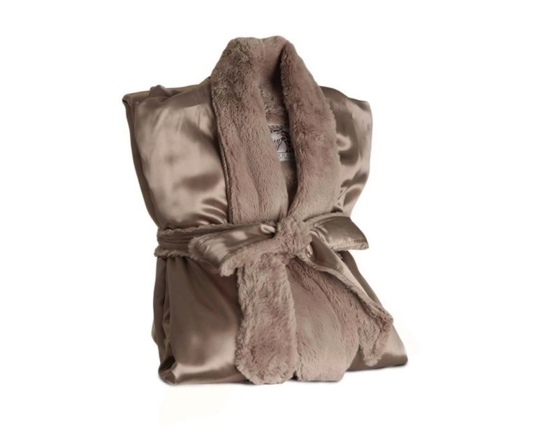 LG Adult Robe Luxe/Satin Flax/1-1