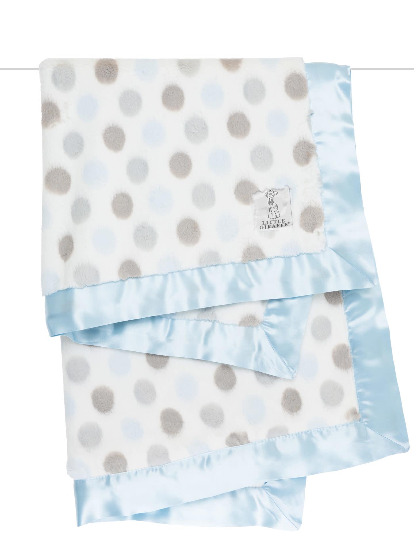 LG Luxe Dot Blanky Giraffe Blue-2