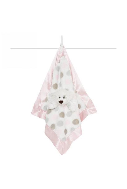 LG Luxe Dot Blanky Giraffe Pink