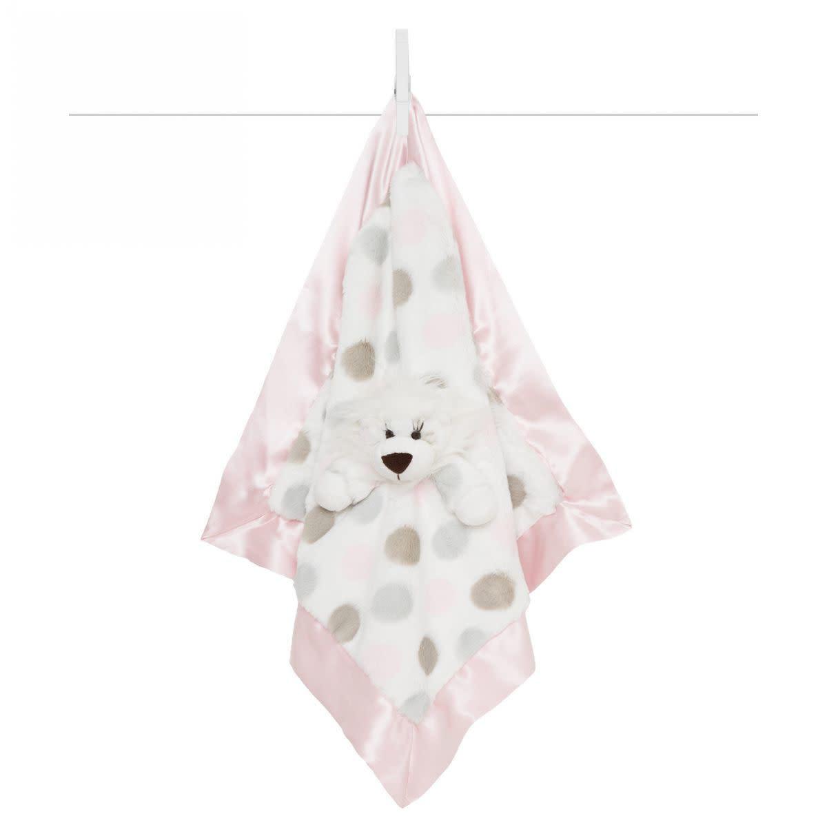 LG Luxe Dot Blanky Giraffe Pink-1