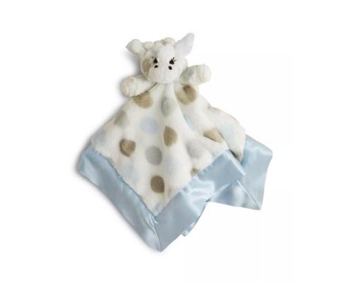 LG Luxe Dot Blanky Giraffe Blue-1