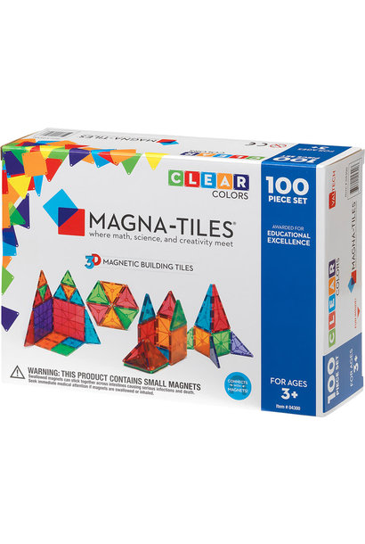 Magna-Tiles 100 pc Clear Set