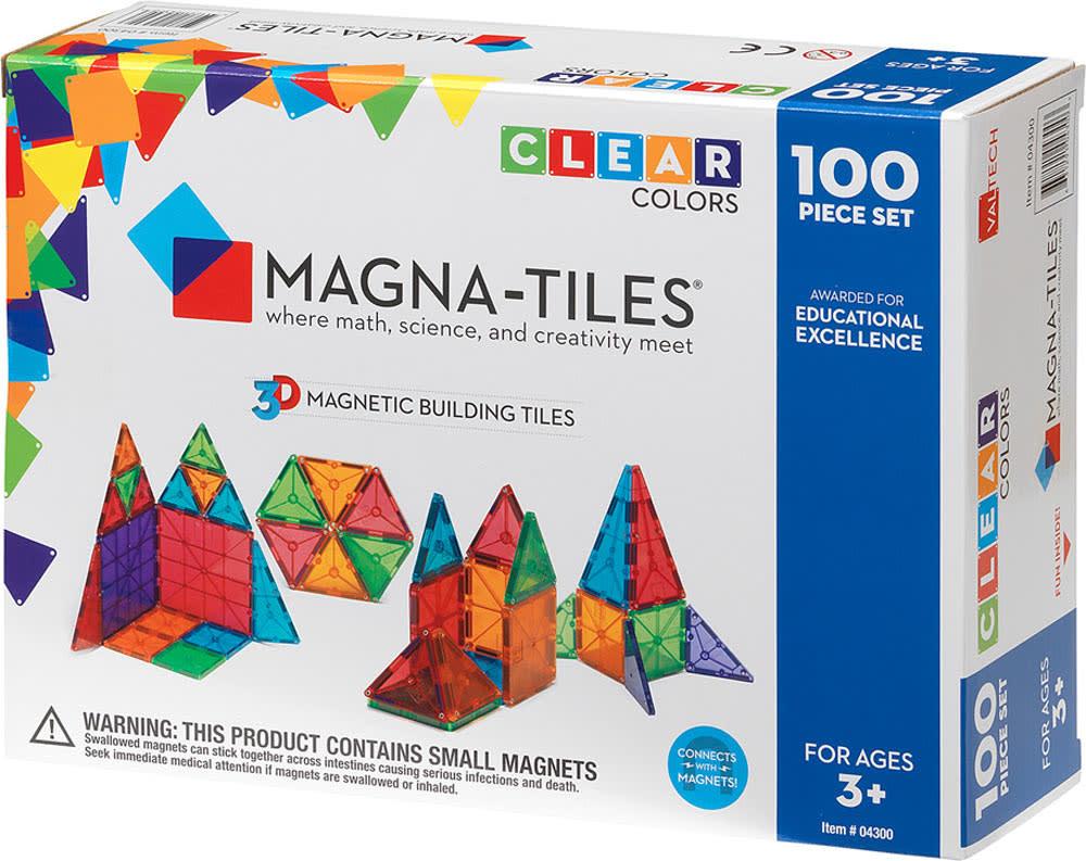 Magna-Tiles 100 pc Clear Set-1