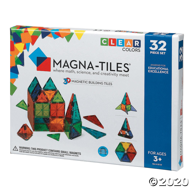 Magna-Tiles 32 pc Clear Set-2