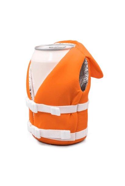 Puffin Beverage Life Vest Vintage Orange