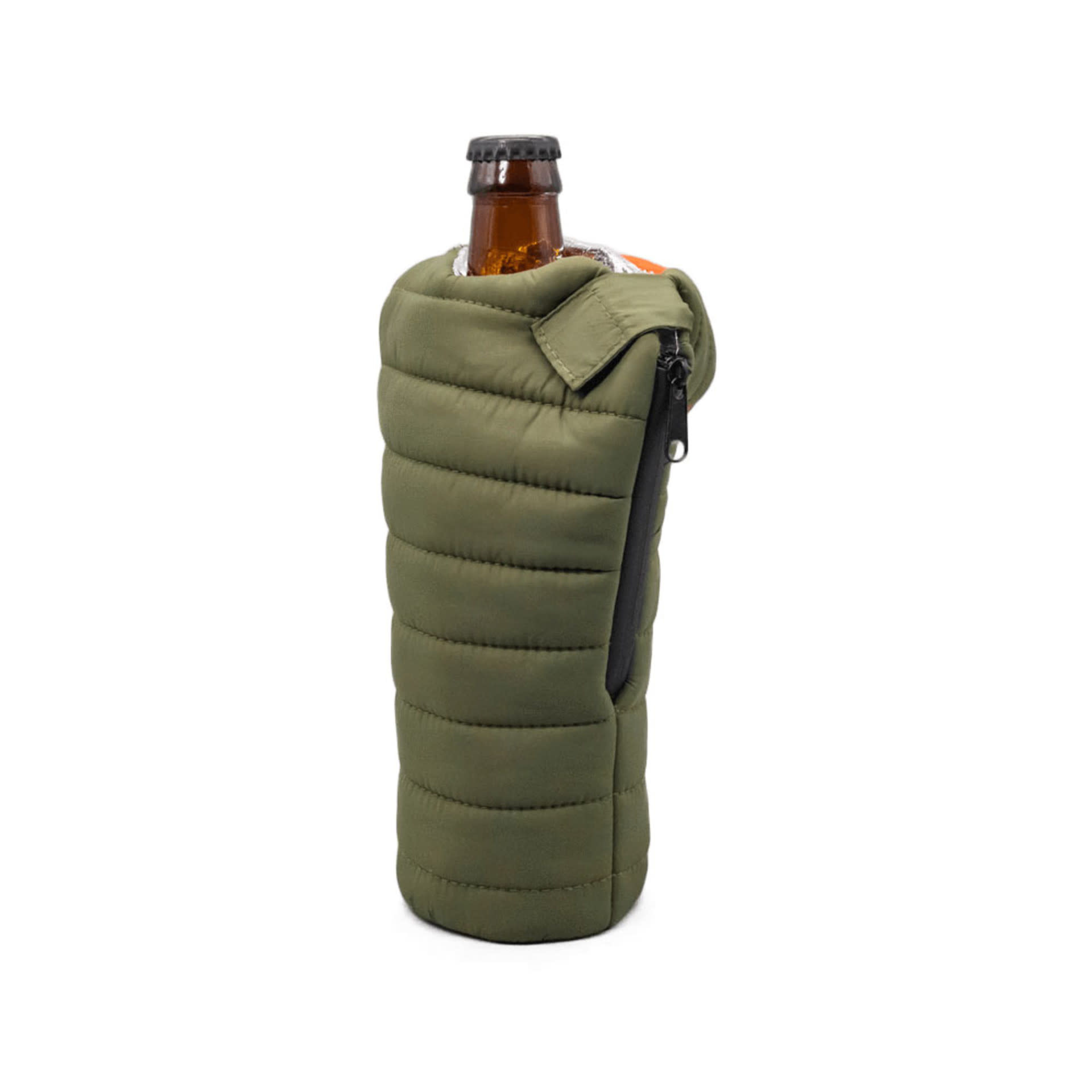 Puffin Beverage Bag Green & Orange-3