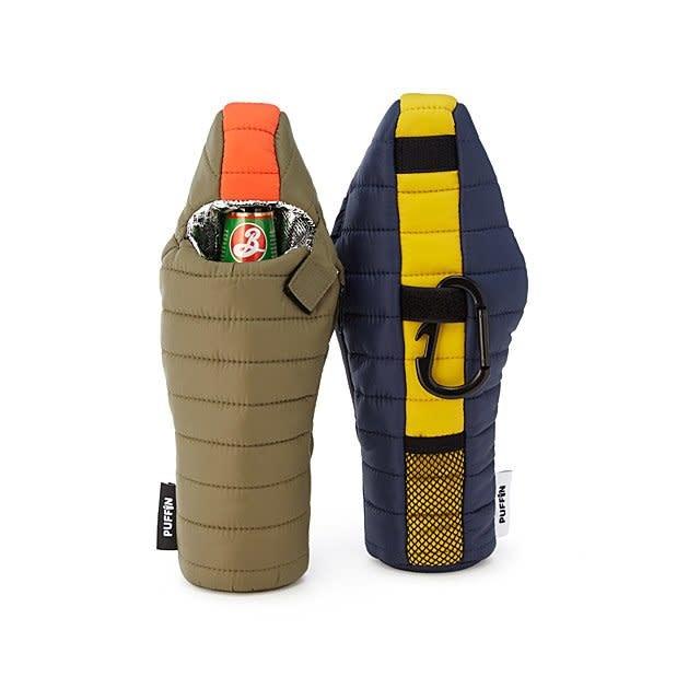 Puffin Beverage Bag Green & Orange-1