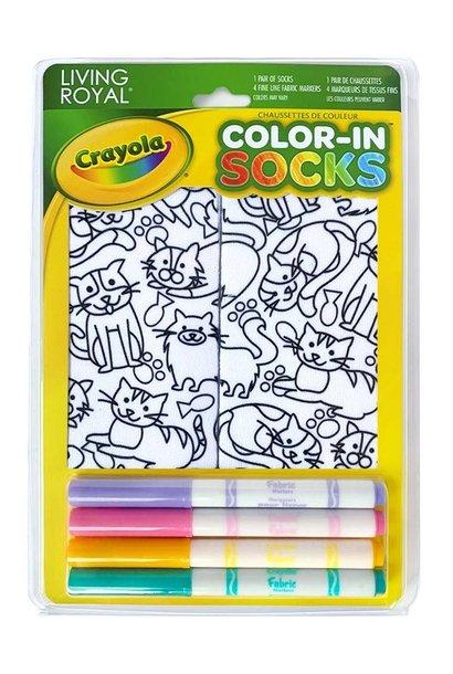 Crayola Color In Socks Kitten Galore