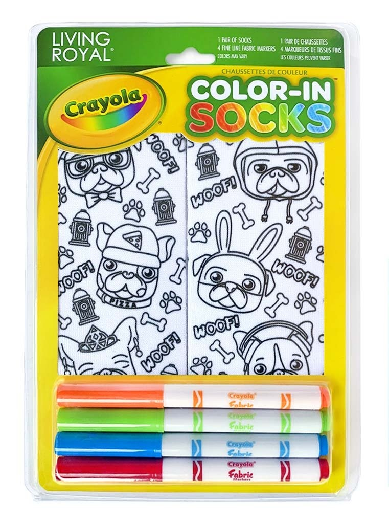 Crayola Color In Socks Puppy Vibes-1