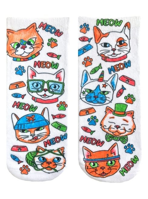 Crayola Color In Socks Cat Vibes-3