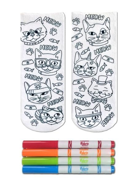 Crayola Color In Socks Cat Vibes-2