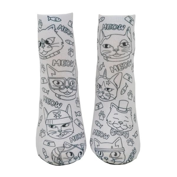 Crayola Color In Socks Cat Vibes-4