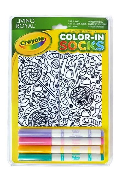 Crayola Color In Socks Candy Lane