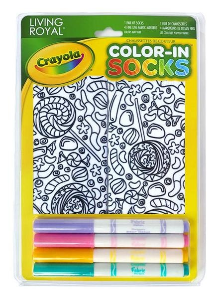 Crayola Color In Socks Candy Lane-1