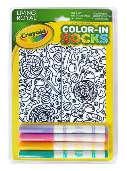 Crayola Color In Socks Candy Lane-4