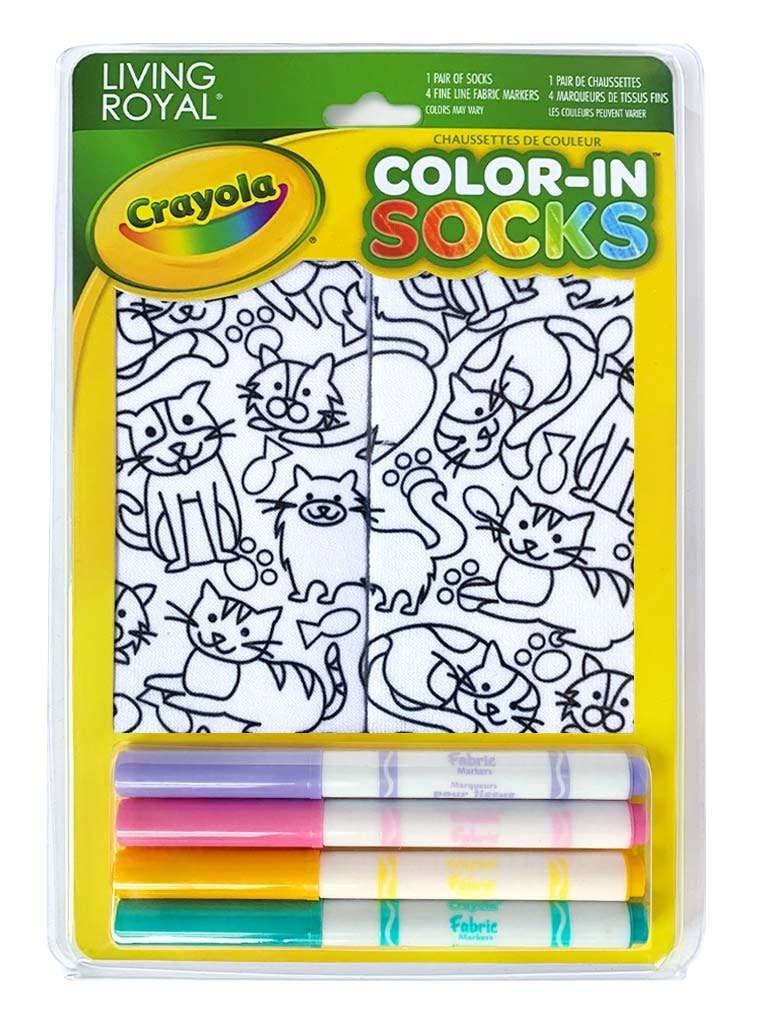 Crayola Color In Socks Kitten Galore-3