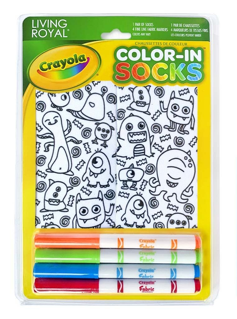 Crayola Color In Socks Monster Party-4