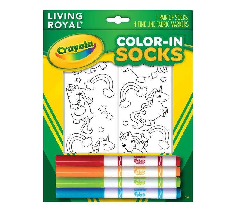 Crayola Color In Socks Unicorn-1