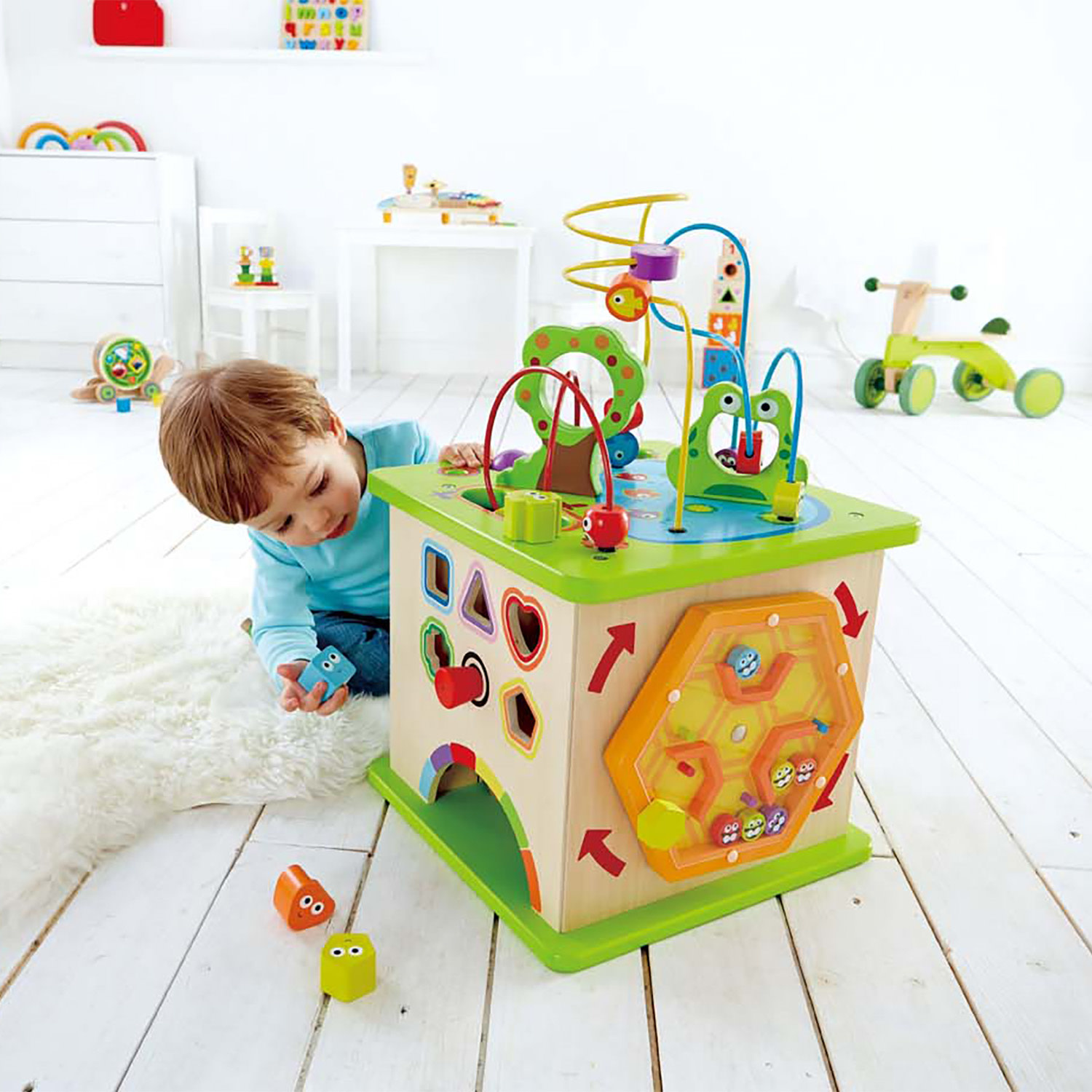 Hape Country Critters Play Cube-1