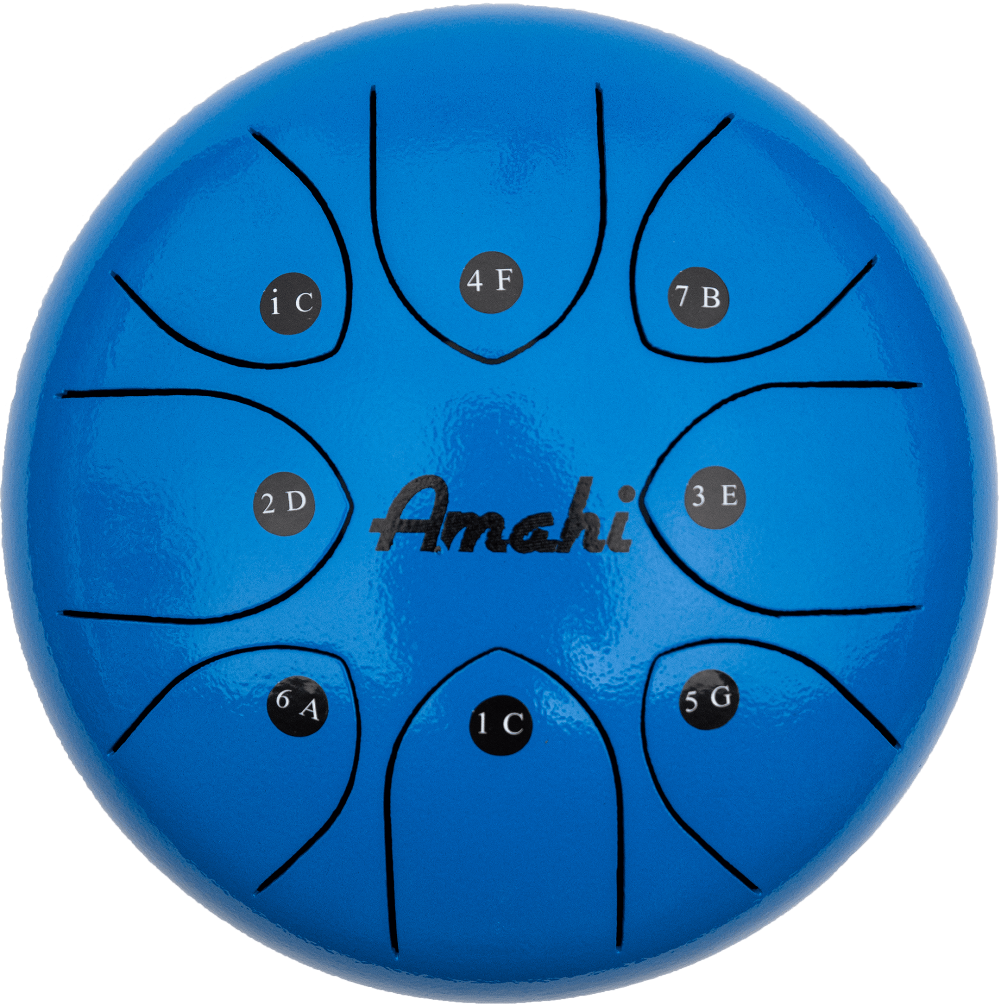 "Amahi Steel Tongue Drum 8"" Blue-1"