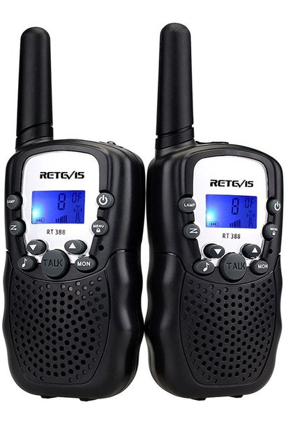 Retevis Kids Walkie Talkies w/Flashlight Black