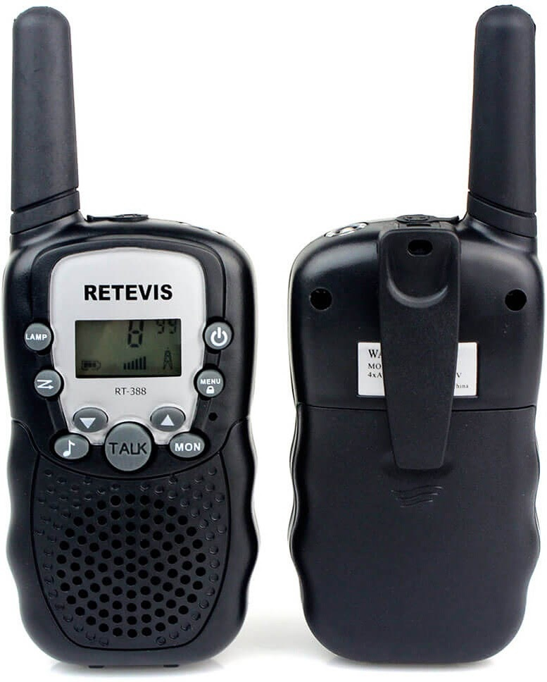 Retevis Kids Walkie Talkies w/Flashlight Black-3