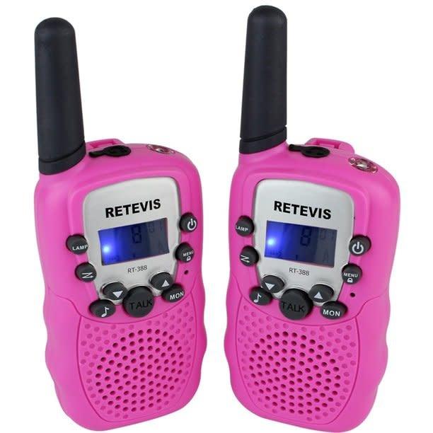 Retevis Kids Walkie Talkies w/Flashlight Pink-3