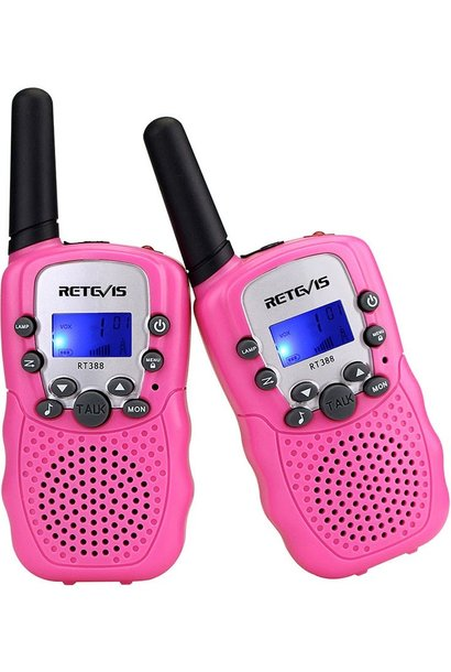Retevis Kids Walkie Talkies w/Flashlight Pink