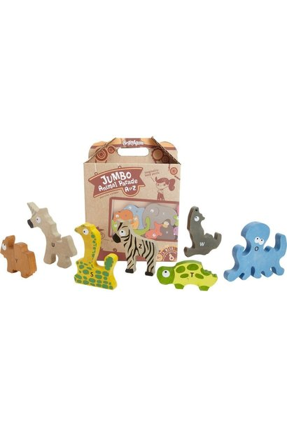 Jumbo Animal Parade A to Z Wooden Puzzle