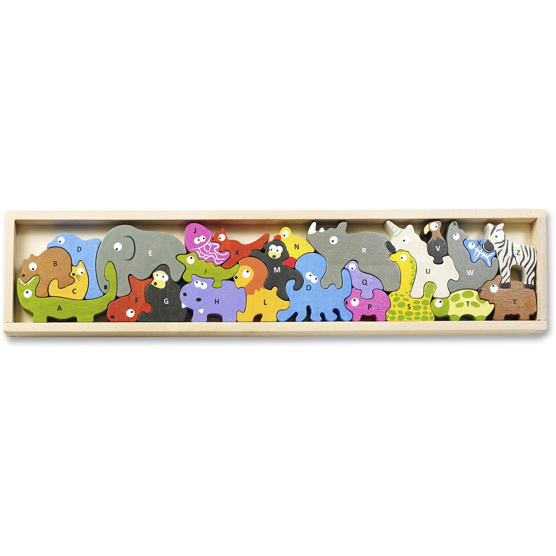 Animal Parade A to Z Wooden Puzzle-3