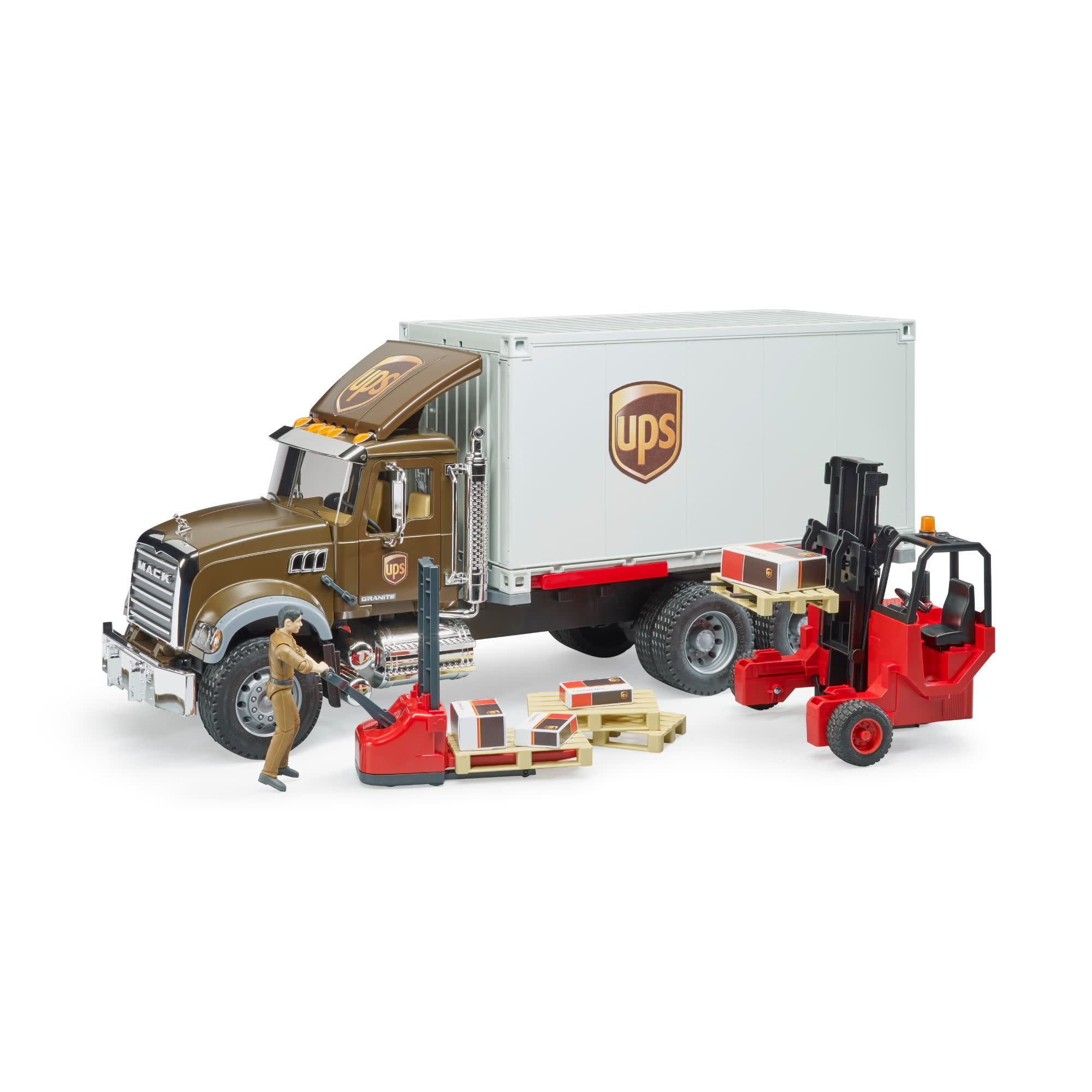 Bruder UPS Mack Logistik Truck-3
